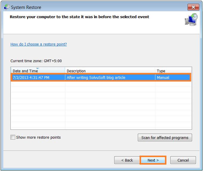 Restore Computer - System Restore 3 - WindowsWally