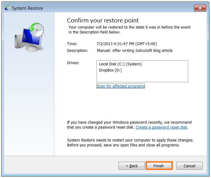 Restore Computer - System Restore 4 - WindowsWally