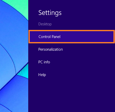 Windows 8 Sleep - Charms Bar - Settings - Control Panel - WindowsWally
