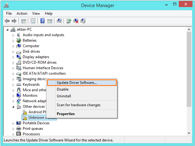 Windows 8.1 Audio -- Device Manager - Update Driver Software... - Windows Wally