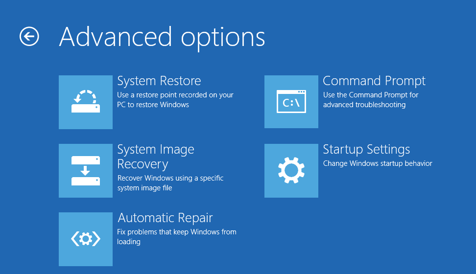 Unmountable Boot Volume - Repair - Troubleshoot - Startup Settings -- Windows Wally
