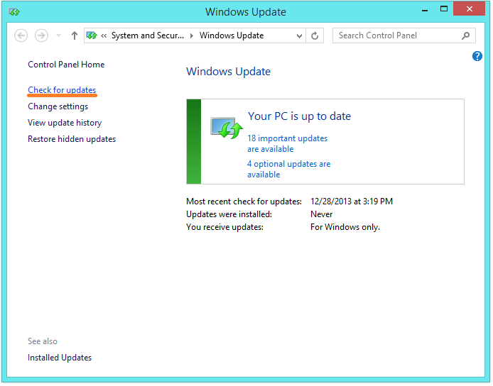KB2770917 - Windows update - Check for Updates -- Windows Wally