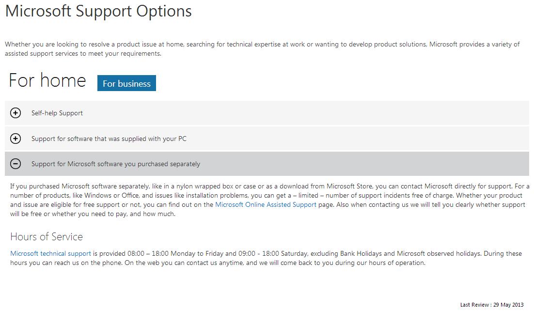 Microsoft Support -- Microsoft Home Users - WindowsWally