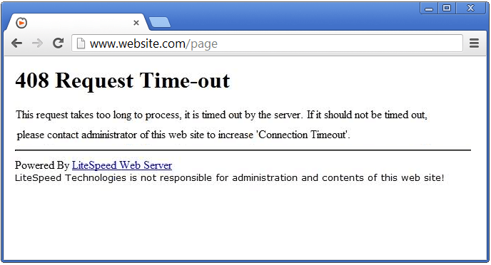 Server Errors - 408 Request Timeout - SolvuSoft