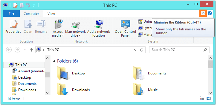 Windows 8 - File Explorer - Ribbon -- Windows Wally