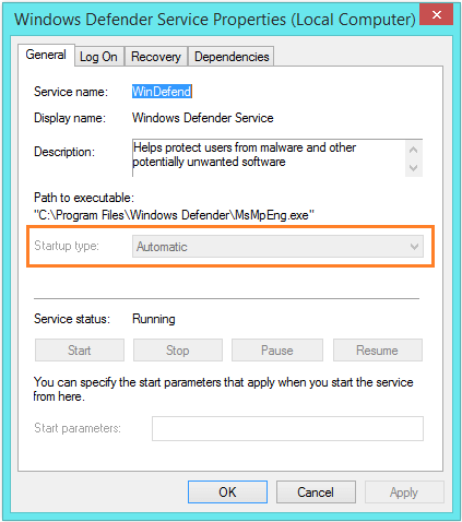 Failed to Initialize - services.msc - Windows Defender Service - General - Automatic -- Windows Wally