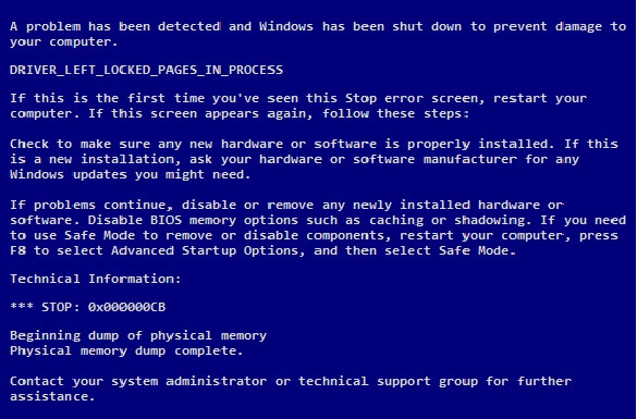 Driver_Left_Locked_Pages_In_Process - Cover - BSoD - Windows Wally