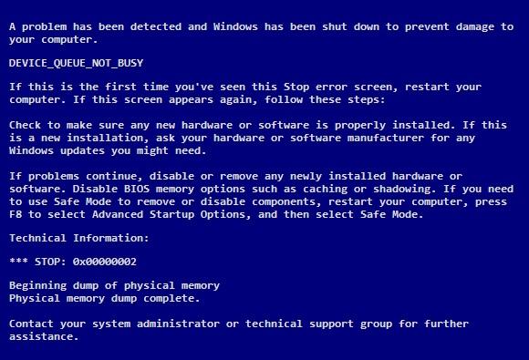 Device_Queue_Not_Busy - Cover - BSoD error -- Windows Wally