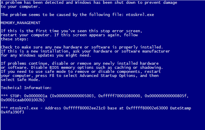 ntoskrnl.exe - Cover - BSoD -- Windows Wally