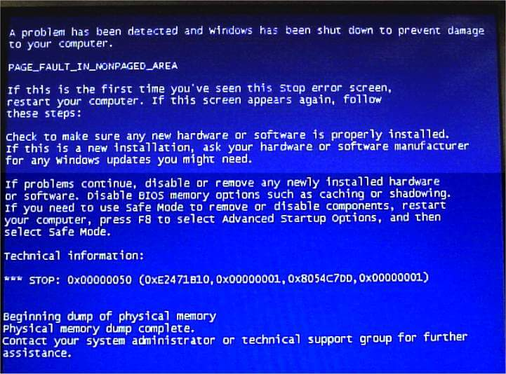 Page_Fault_In_Nonpaged_Area - Cover - BSoD -- Windows Wally