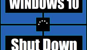 Windows 10 - ShutDown - Featured -- Windows Wally