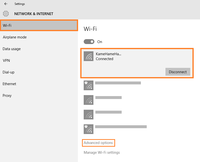 Windows 10 - Automatic Updates - Start - Settings - Network & Internet - WiFi -- Windows Wally