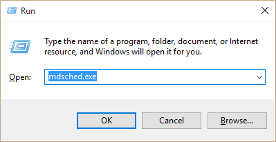 Diagnostic Scan - Windows memory diagnostic tool - RUN -- Windows Wally