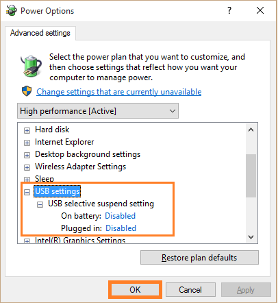 USB Ports - USB Selective Suspend setting 2 - WindowsWally
