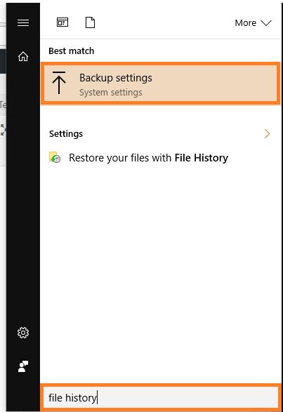 Windows 10 - File History - Backup Settings - Windows Wally