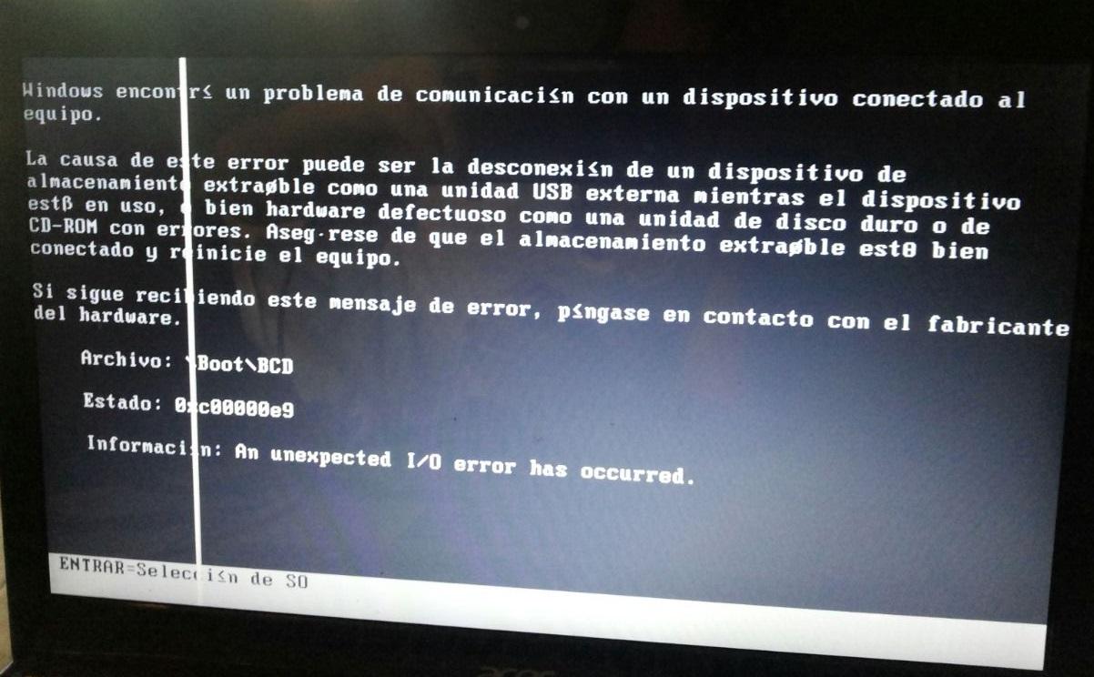 0xc00000e9 - Cover - Error - Windows Wally