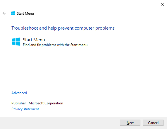 ShelalExperienceHost -- Windows 10 - Start Menu Troubleshooter - Windows Wally