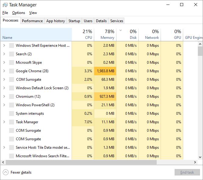 ShellExperienceHost -- Windows 10 - Ctrl+Shift+Esc - Task Manager - Windows Wally