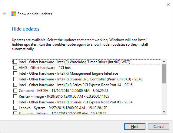Windows 10 -- Show or Hide Updates - 4 - Windows Wally