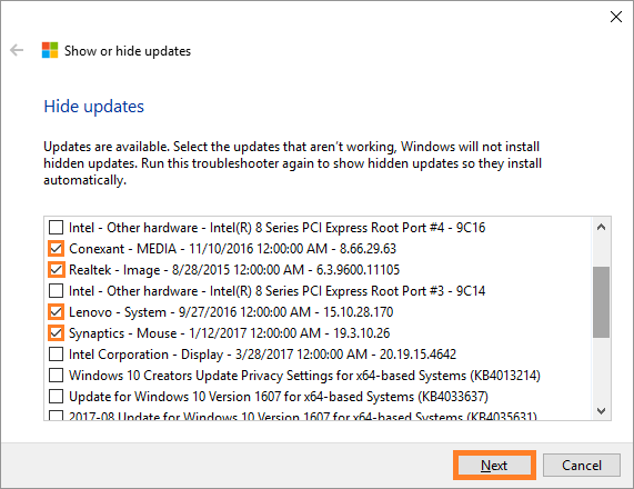 Windows 10 -- Show or Hide Updates - 5 - Windows Wally