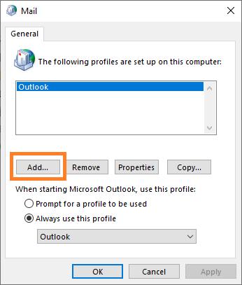 0x8004010F - Mail - 2 -- Windows Wally