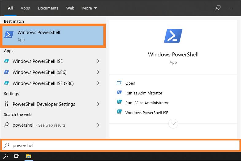 Signature Window - Start Menu - PowerShell - Windows 10 -- Windows Wally